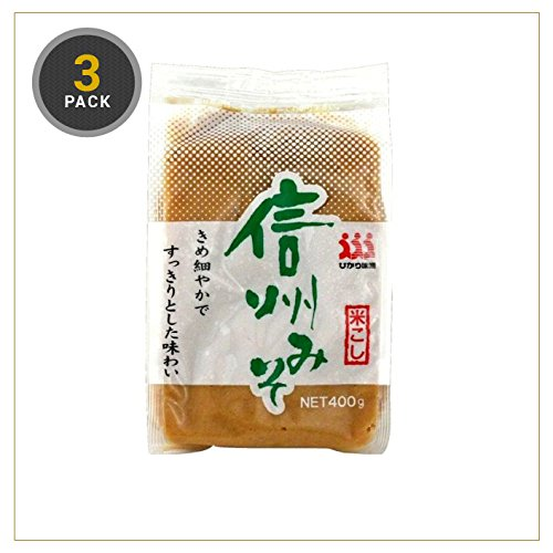 Hikari Medium Sweet White Miso Paste 400g (Medium Sweet, 3 Pack)