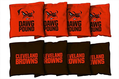 Victory Tailgate Cleveland Browns NFL Cornhole Game Bag Set (8 Bags Included, ()