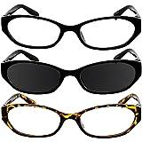 Reading Glasses 4.00 Black Tortoise Black Sun