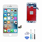 SANKA LCD Screen Replacement Touch Screen Display Digitizer Glass Frame Assembly 3D Function with Repair Tool Kit for iPhone 8 Plus (5.5'') - White