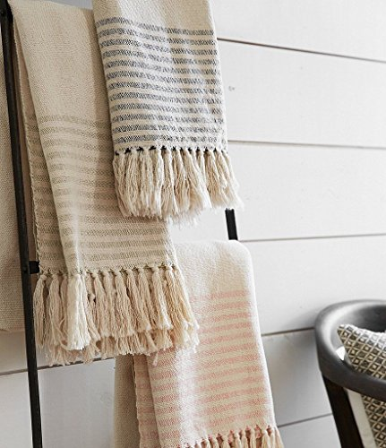 Magnolia Home Oaks Collection Throw Blanket by Joanna Gaines - Pink (Gaines Joanna Magnolia Bedding)