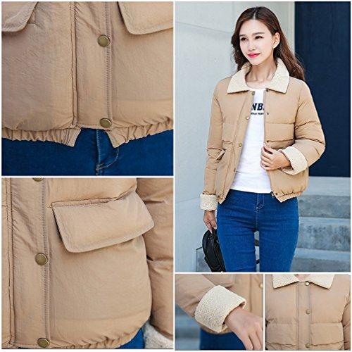 Korean Down Khaki Bigood Short Padded Ladies Women's Warm Coat Overcoat Jacket BYEYqvw