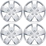 BDK Nissan Altima Hubcaps Wheel Cover, 16'' Silver Replica Cover, OEM Factory Replacement (4 Pieces)