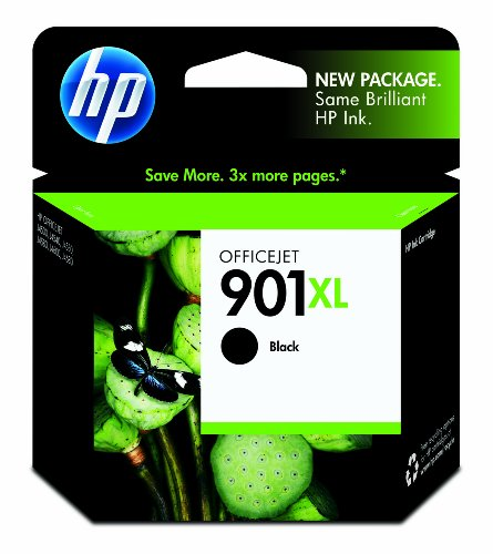 HP 901XL Black High Yield Original Ink Cartridge (CC654AN) (Hp J4580 Printer Ink)