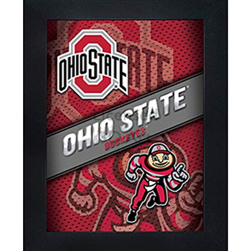 Ohio State Buckeyes 3D Poster Wall Art Decor Framed Print | 14.5x18.5 | OH Lenticular Posters & Pictures | Gifts for Guys & Girls College Dorm Room | NCAA Football Team Fan Brutus Logo & Mascot
