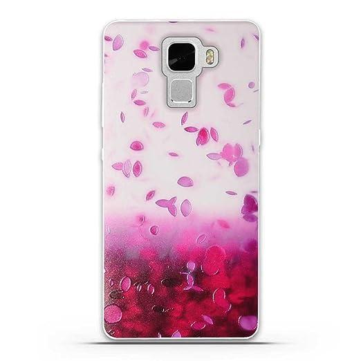 5 opinioni per Huawei Honor 7 Cover, Fubaoda 3D Rilievo Bel fiore UltraSlim TPU Skin Cover