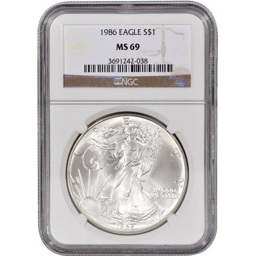 1986 American Silver Eagle $1 MS69 NGC (Silver Eagle 1986)