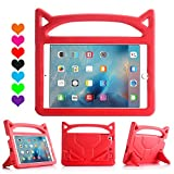 New iPad 9.7 2018 2017 Case for Kids - ThreeJ Lightweight Shockproof Protective Case Double Stand for Apple iPad 9.7 inch 2018 2017 (iPad-9.7 - Red)