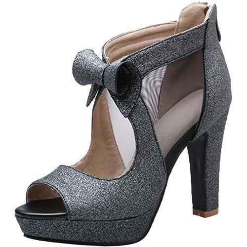 Toe Sandales VulusValas Elegant Black Peep Femmes a4qwCtx4Fc