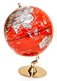 Red & Sliver Globe of The World 5''