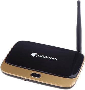 Andoer® Q7 CS918 MK888 Android 4.2 Smart TV Box Player RK3188T Quad Core 2GB / 8GB 1080P XBMC WiFi Oro: Amazon.es: Electrónica