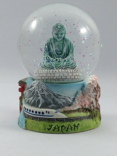 Vintage Snow Globe Water Art Glass Paper Weight 3D Resin Japan Souvenir Gift - Japan Glass Vintage