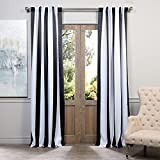 UNKN 2pc 120 Bold Black White Rugby Stripes Curtains Pair Panel Set, Black Color Drapes Cabana Striped Pattern Window Treatments, Polyester, Casual Themed Vertical Lines Design Contemporary Review