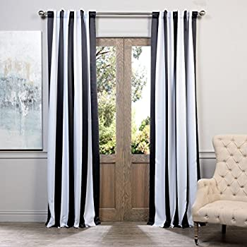 Black And White Striped Curtain Curtain Menzilperde Net