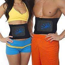 Waist Trimmer for Women&Men,Slimming Belt Body Shaper Belt Fat Burner Belt Workout Stomach Shaper Sweet Ab Belt Waist Sweat Belt for Weight Loss with Sauna Effect