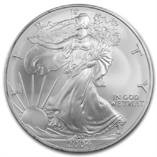 2004 American Silver Eagle .999 Fine Silver Dollar Uncirculated US Mint with Our Certificate of Authenticity ()