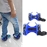 Hot Flash Roller Skate Shoes Scooter Flashing Wheels Toys for Kids - Blue