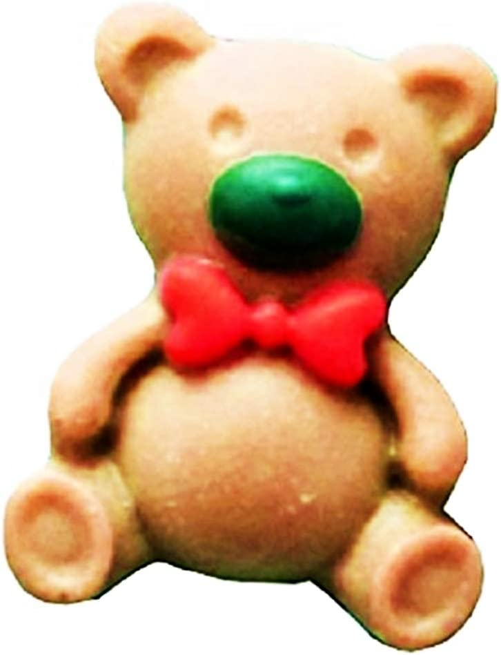 Idea Regalo Natale e Compleanno Fondenti Pancake Cucina Torte Uso Alimentare Muffin Decorazioni Stampo Silicone Orsetto Pasta di Zucchero