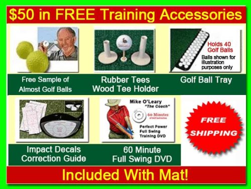 Golf Mat 4' x 5' Dura-Pro Plus Residential Golf Hitting Mat FREE Golf Ball Tray, FREE Balls, FREE Tees - FREE SHIPPING - 8 Year UV Warranty - Dura-Pro Golf Mats Make All Other Golf Mats Obsolete! Family Owned And Operated Since 1997. As Seen On The Golf C