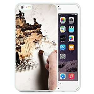 NEW Unique Custom Designed iPhone 6 Plus 5.5 Inch Phone Case With Hand Painting Old Building_White Phone Case