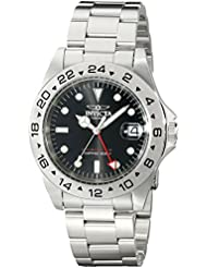 Invicta Mens Specialty Quartz Stainless Steel Casual Watch, Color:Silver-Toned (Model: 9401)