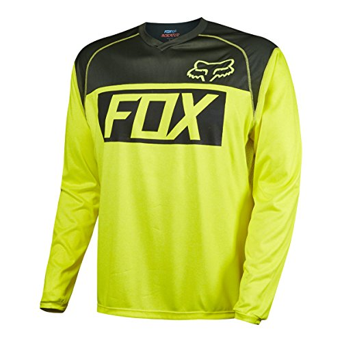 Fox Racing Indicator Jersey - Long Sleeve - Mens Flo Yellow, L - Fox Racing Sleeveless Jersey