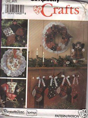 - Simplicity #9796 - Christmas Craft Home Decor Pattern