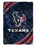 NFL Football Houston Texans Royal Plush Rachel King Size Throw Blanket
