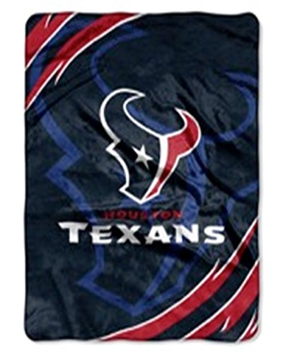 NFL Houston Texans Football Super Soft Royal Plush Queen Size Blanket 79x95 Inches