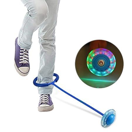 Bola de tobillo para saltar con luz LED intermitente, bola de ...