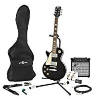 New Jersey Left Handed Electric Guitar + Complete Pack Black