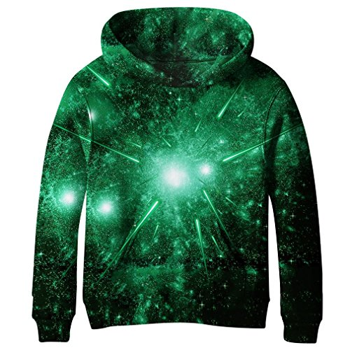 (SAYM Teen Boys' Galaxy Fleece Sweatshirts Pocket Pullover Hoodies 4-16Y NO33 M )