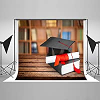 Kate 7x5ft Student Backdrops Graduation Cap Customized School Photo Booth Backdrop 2.2x1.5m