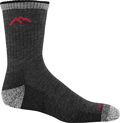Darn Tough Men's Merino Wool Micro Crew Sock Cushion, Black, Medium (6 pack)