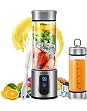 Portable Blender, Personal Smoothie Blender with USB Rechargeable, AHNR 15oz Small Blender Juicer Mixer Six Blades for Shakes,Smoothies,Fruit Vegetables Drinks (FDA, BPA Free)