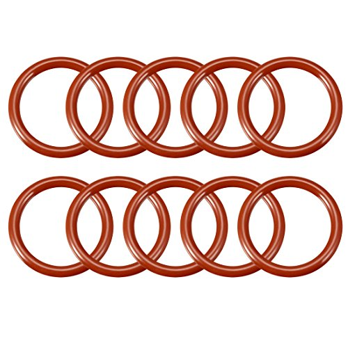 uxcell Silicone O-Ring, 26mm Outside Diameter, 19.8mm Inner Diameter, 3.1mm Width, VMQ Seal Rings Sealing Gasket Red, 10PCS
