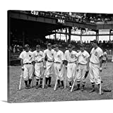 "Premium Thick-Wrap Canvas Wall Art Print Entitled American League Baseball Greats in The line-up of The 5th All-Star Game, 1937 20""x16"""