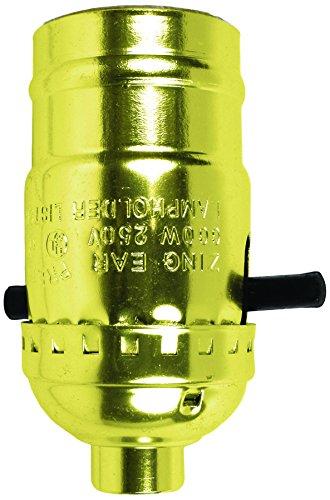Light Push Through Sockets - Jandorf Brass Push Through Lamp Socket