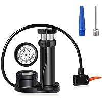 TOOP Fietspomp voetpomp met precisiemanometer, 11 bar/160 PSI voor alle ventielen, SV AV DV, draagbare mini…