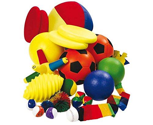 Betzold Ballset mit Bigbag, verschiedene Bälle für den Sportunterricht, Fuß-Ball, Volley-Ball, Soft-Ball