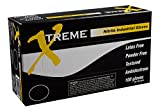 AMMEX - XNPF48100 - Nitrile Gloves - Xtreme - Disposable, Powder Free, Industrial, 4 mil, XLarge, Blue (Case of 1000)