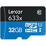 Lexar High-Performance microSDHC 633x 32GB UHS-I Card w/SD Adapter - LSDMI32GBBNL633A