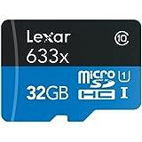 Lexar High-Performance microSDHC 633 x 32GB UHS-I Card w/SD Adapter - LSDMI32GBBNL633A