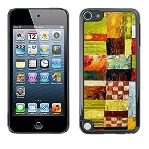 [Neutron-Star] Snap-on Series Teléfono Carcasa Funda Case Caso para Apple iPod Touch 5 [Cuadros Arte Modelo verde del aceite]