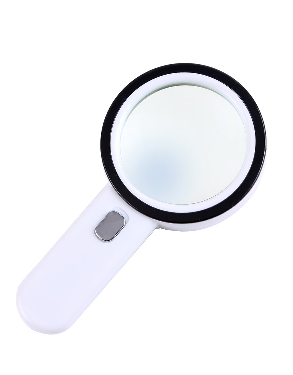 ZENGAI Magnifiers High-definition Optical With Lamp Reading 30 Times The Large Double-lens 100MM Antique Hand-held Gift Box Magnifying Glass