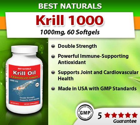 Meilleures Naturals Neptune Huile de Krill, 1000 mg, 60 gélules (100% Pure huile de krill Neptune avec l'astaxanthine)