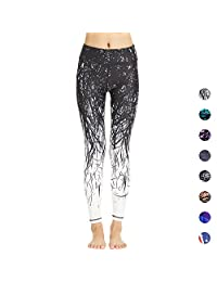 COOLOMG Women's Yoga Long Pants Compression Running Tights Workout Leggings