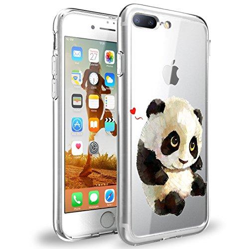 - iPhone 7/8 Plus Case TPU Silicone Rubber Cute Anti-Scratch Slim Ultra Protective Clear Shock-Absorption Bumper Panda Soft Amusing Design for Apple7Plus iPhone 8+ Cover (Color 4, iPhone 8 Plus)