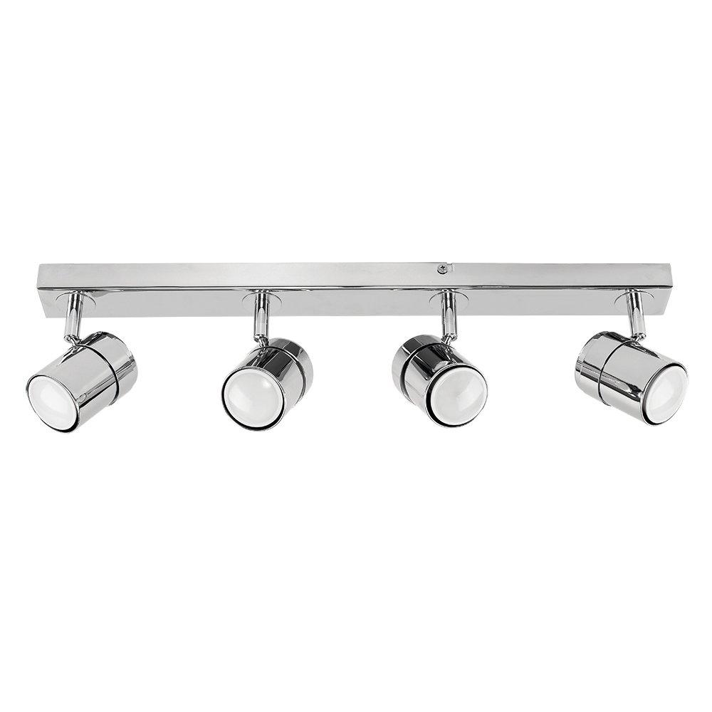Modern 4 Way Polished Copper Effect Straight Bar Ceiling Spotlight MiniSun