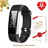 LETSCOM Fitness Tracker HR, Activity Tracker Watch with Heart Rate Monitor, Waterproof Smart Fitness Band with Step Counter, Calorie Counter, Pedometer Watch for Kids Women and Men, Christmas Edition